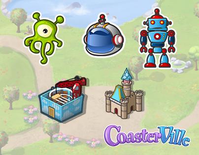 Zynga CoasterVille UI graphics & Icons