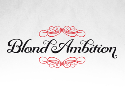 Blond Ambition   Typography