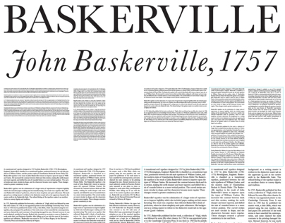 Baskerville: Type Setting