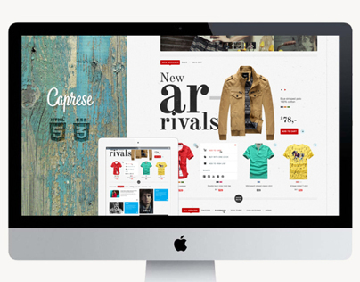 Caprese. E-commerce website template.