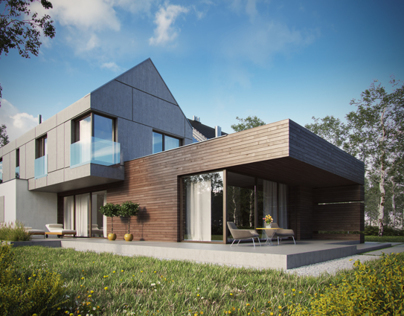 Modern single-family house