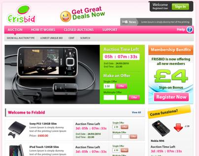 FrisBid Bid and Win Portal