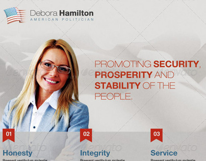 Promoting Security Political Flyer Template