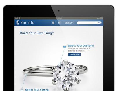 Blue Nile Mobile Website Ring Builder for Tablets