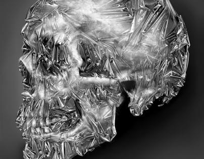 Tinfoil Skull | printed tee design
