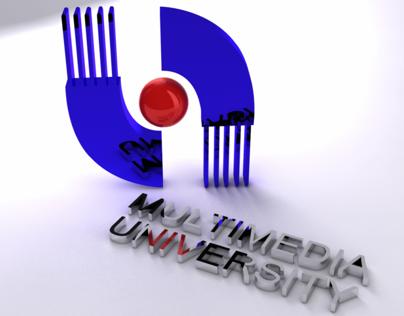 Multimedia University 3d logo