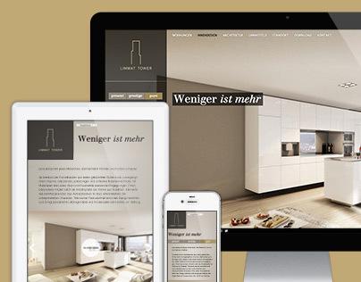 Limmat-Tower – real estate promotion website