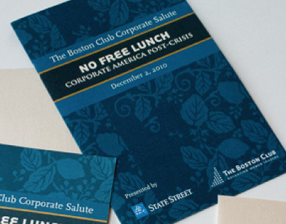 The Boston Club Corporate Salute event collateral