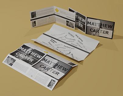 Matthew Carter Broşür Tasarımı - Brochure Design