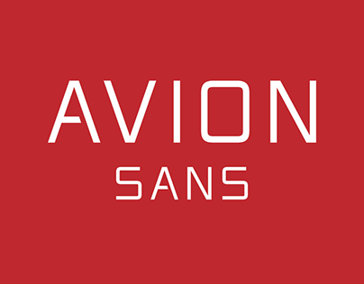Avion Sans Typeface of 10 Fonts