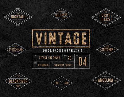 Vintage Badges Vol. 4 - Rhombus Collection