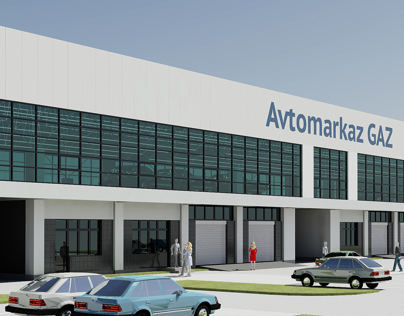 Auto-service and car dealership building in Tashkent