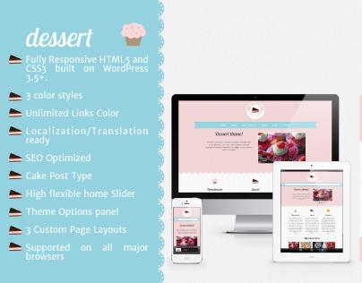 Dessert – Food Responsive WordPress Theme