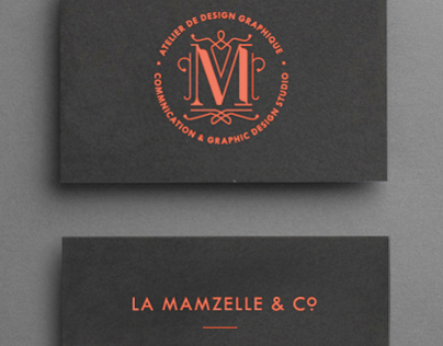 Mamzelle & Co. business cards - 2010