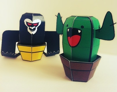 #CactusClan Papertoys