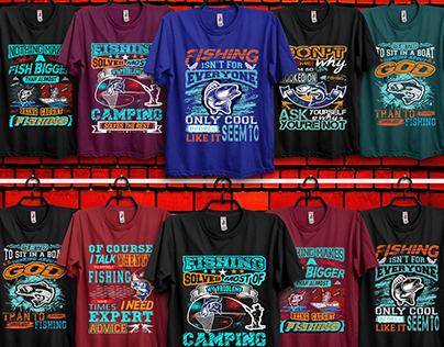 fishing t-shirt design bundle.
