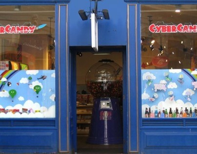 Window Display for Cybercandy Covent Garden