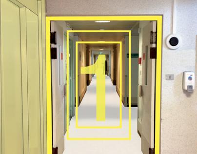 Signalétique en milieu hospitalier.