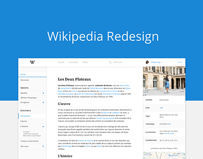 [UX/UI DESIGN] - Wikipedia Redesign - School Project