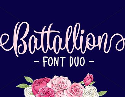 FREE BATTALLION FONT DUO - HANDWRITTEN SCRIPT