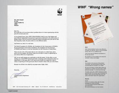 WWF / Wrong Names / Direct Marketing
