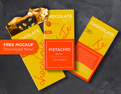 Free Mockup - Chocolate Packaging