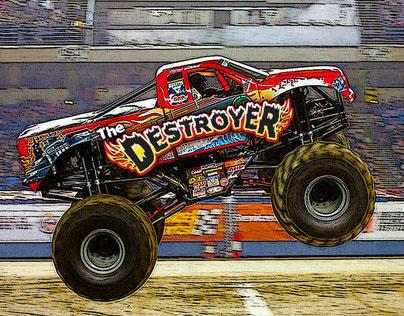 Monster Truck Website UX, Design & Development