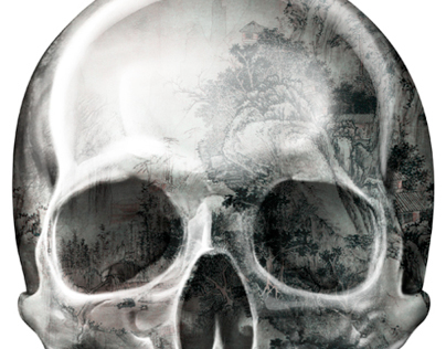 Texture Skull | printed tee design