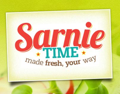 Sarnie Time Interface design