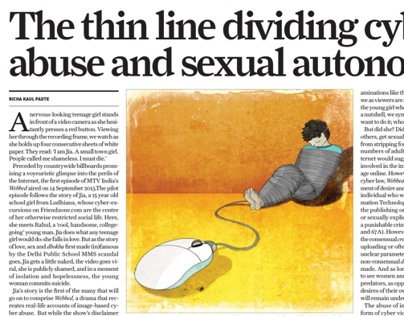 Illustrations for The Sunday Guardian' Weekly newspaper