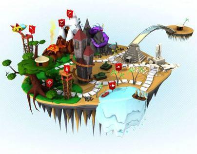 3D illustration for Flip Pixel Website