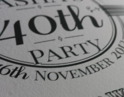 40th Invite