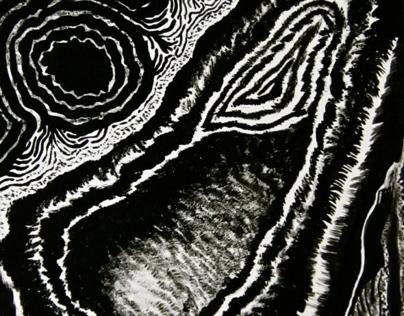 Ink/Gouache experiment