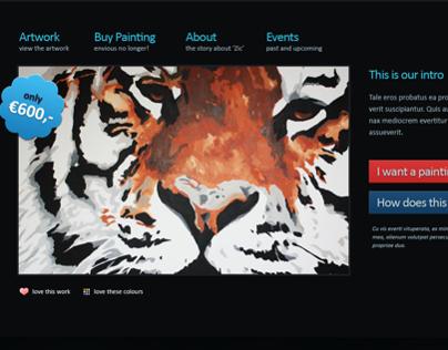 Webstore for a paint artist