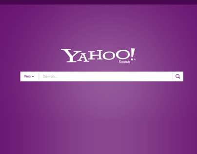 Yahoo Search Homepage Redesign Concept