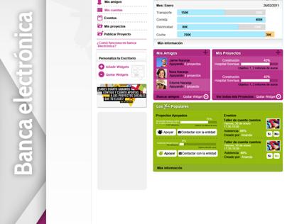 Plataforma banca electrónica