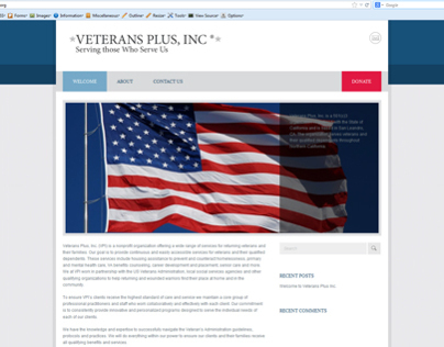 Veterans Plus Inc. Wordpress Website
