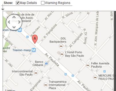 Axure Map Widget - Ferramentas usadas: Axure, Photoshop