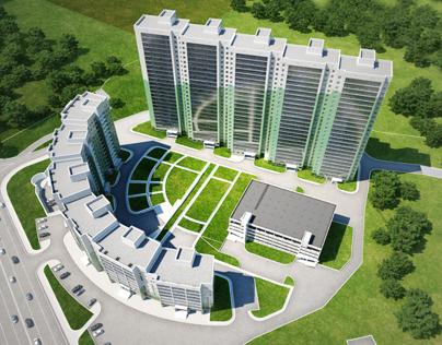 Redesign of residential complex Coliseum. Novosibirsk.