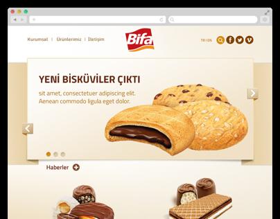 Website for BIFA Biscuits