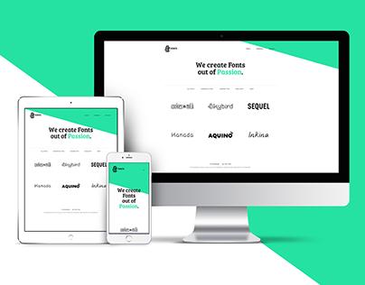 Phitradesign Fonts Website + CD Redesign