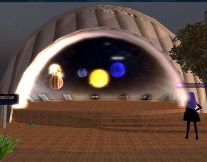 Virtual planetarium in the 3d world of Imprudence