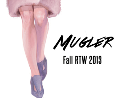 Digital Fashion Sketch: Mugler Fall RTW 2013