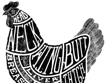 Chicken Parts Illustration for Food & Wine Magazine