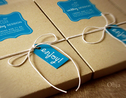 Branding and handmade packaging for photographer