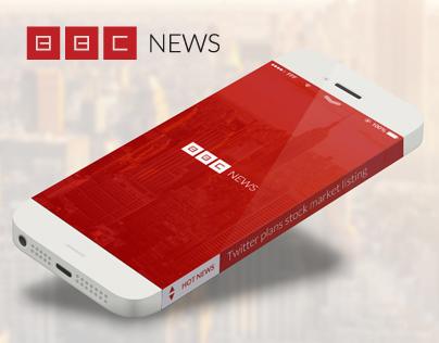 """BBC News - concept logo and mobile """"hotnews"""""""