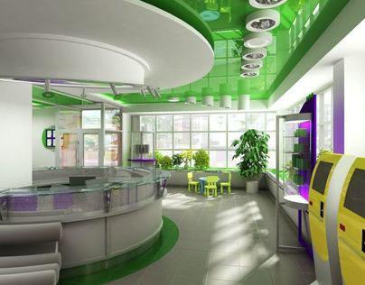 Central office of MEGAFON interior