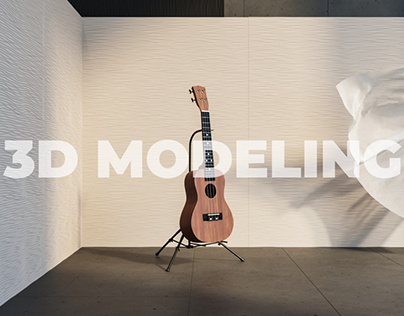 3D Model of a Guitar (Ukulele)