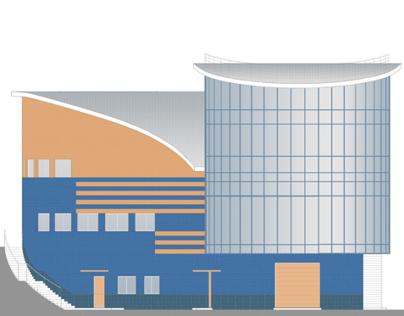 Trade exhibition complex