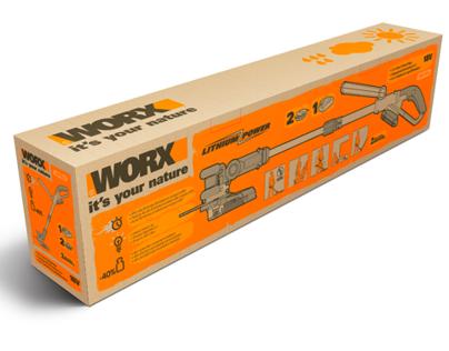 Worx packaging garden tools Europe